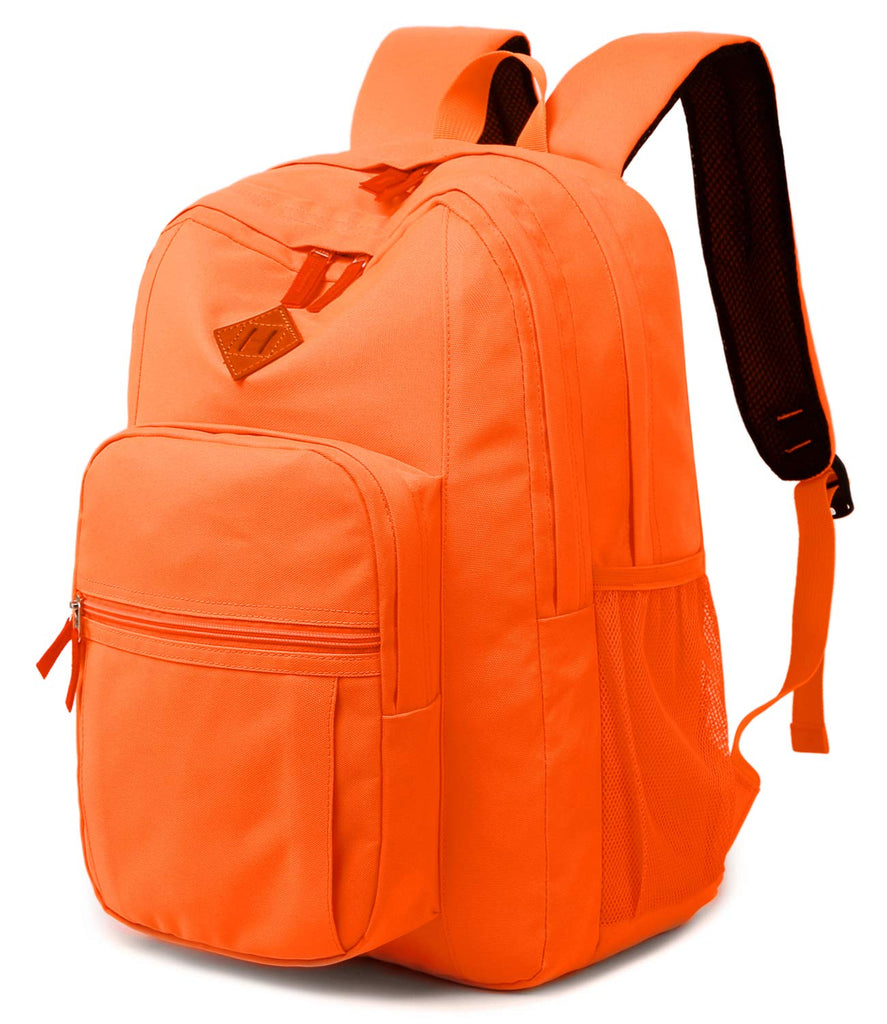Abshoo Classical Basic Womens Travel Backpack For College Men Water Resistant Bookbag (Tangerine) - backpacks4less.com