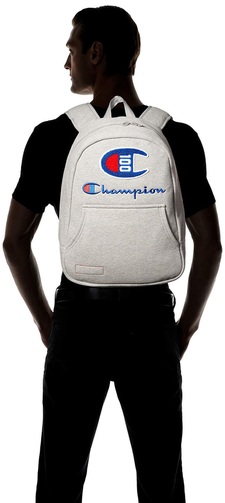 Champion Men's 100 Year Hoodie Backpack, Medium Gray, One Size - backpacks4less.com