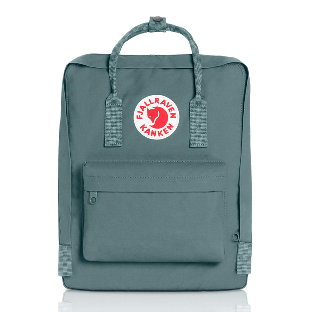 Fjallraven - Kanken Classic Backpack for Everyday, Frost Green/Chess Pattern - backpacks4less.com