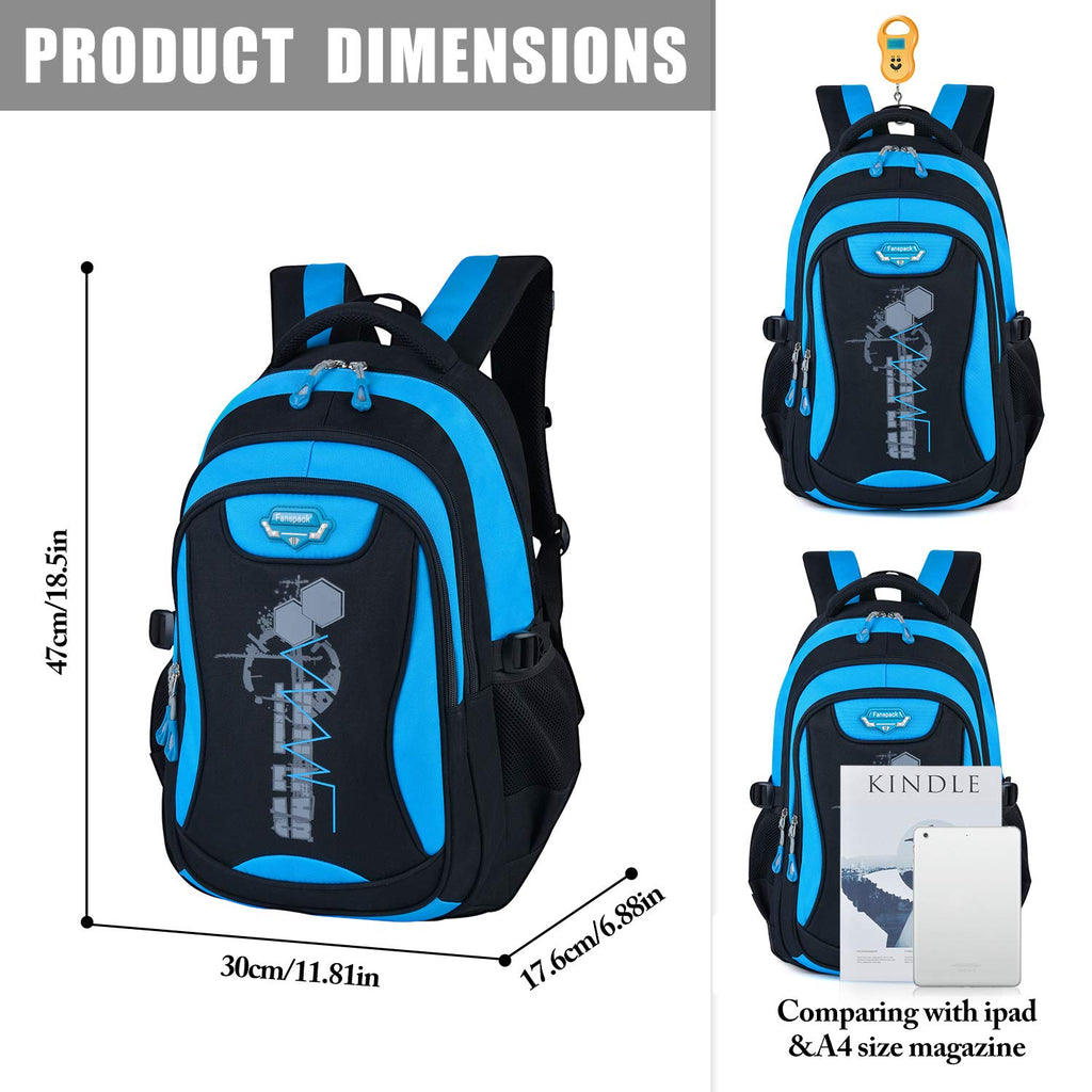 Backpack for Boys, Fanspack Boys Backpack Kids School Bags Bookbags Backpack for Elementary or Middle School - backpacks4less.com