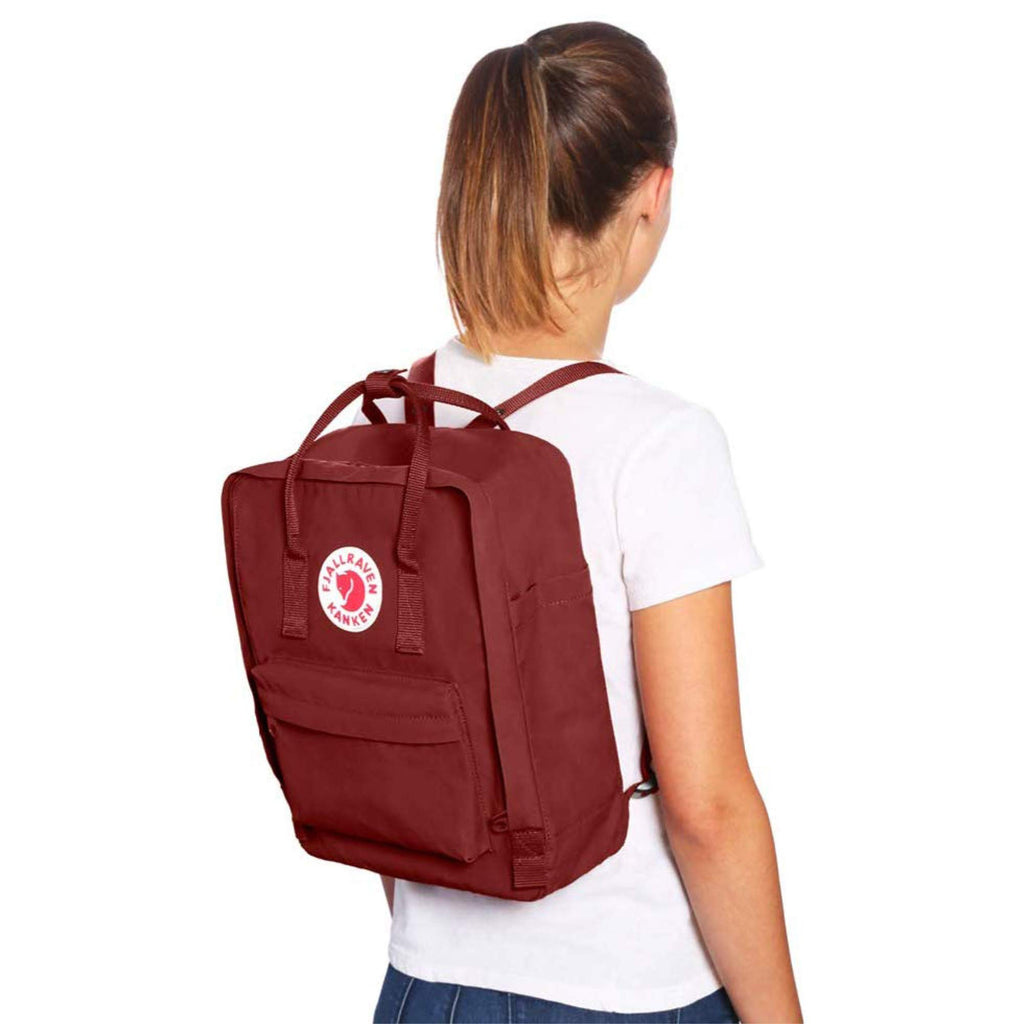 Fjallraven - Kanken Classic Backpack for Everyday, Forest Green/Ox Red - backpacks4less.com