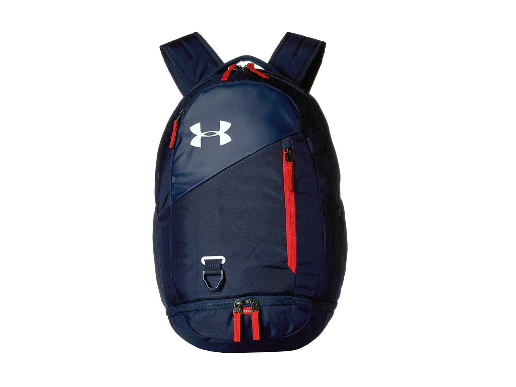 Under Armour Hustle 4.0 Backpack, Academy (409)/White, One Size Fits All - backpacks4less.com