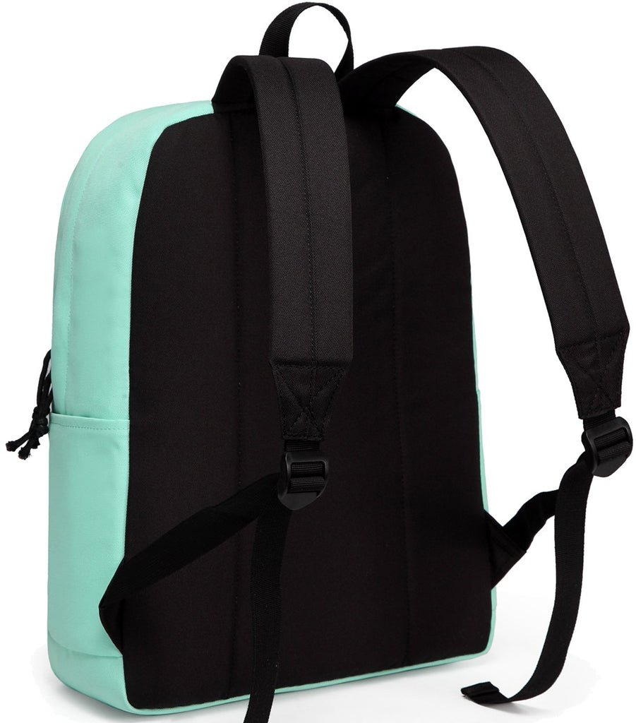 Lightweight Backpack for School, VASCHY Classic Basic Water Resistant Casual Daypack for travel with Bottle Side Pockets (Aqua) - backpacks4less.com