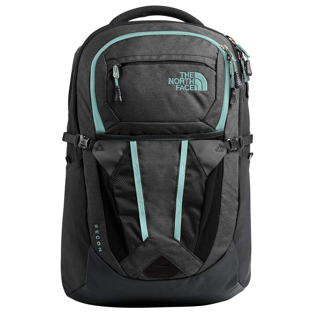 The North Face Women's Recon, Asphalt Grey Light Heather/Windmill Blue, One Size - backpacks4less.com