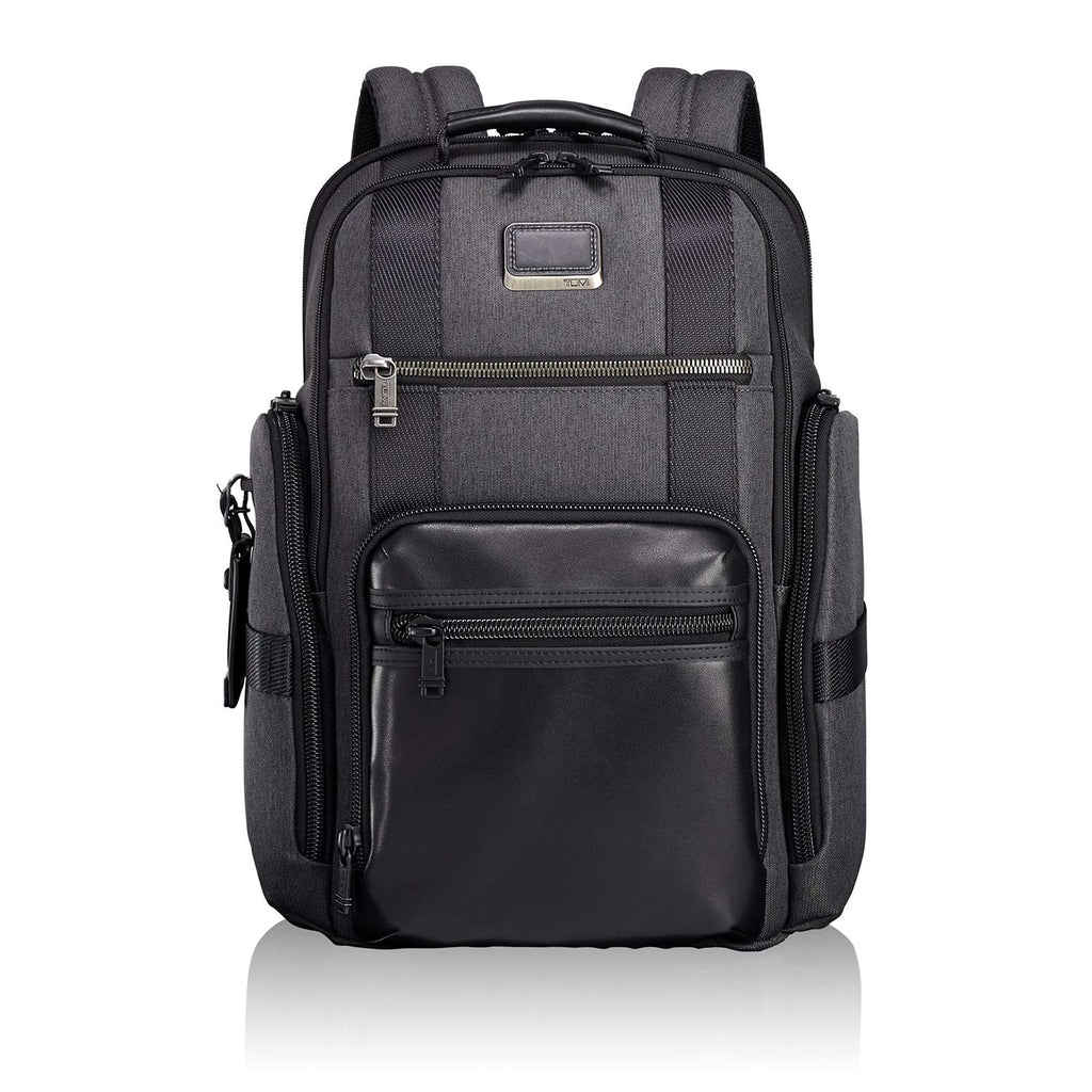 TUMI - Alpha Bravo Sheppard Deluxe Brief Pack Laptop Backpack - 15 Inch Computer Bag for Men and Women - Anthracite - backpacks4less.com