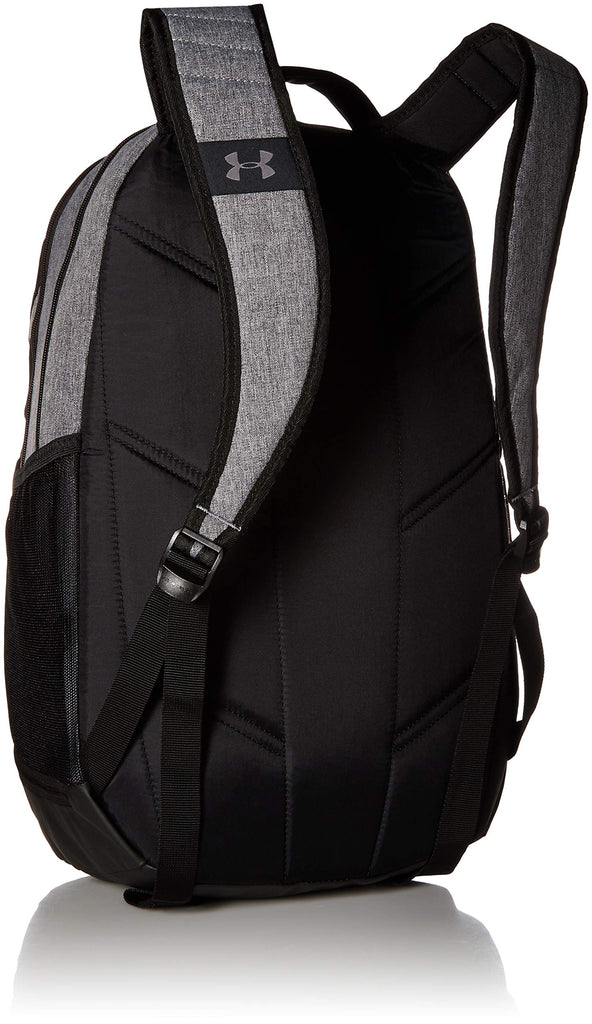 Under Armour Hustle 3.0 Backpack, Graphite Medium Heat (042)/Black, One Size Fits All - backpacks4less.com