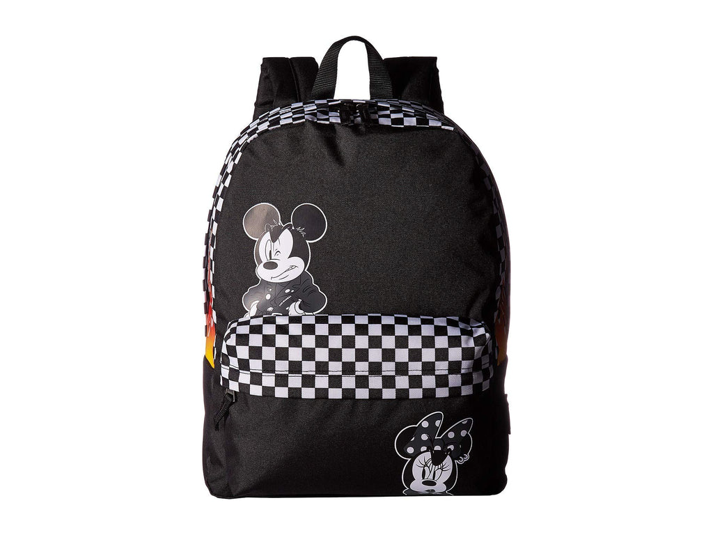 Vans x Disney Mickey Mouse 90th Anniversary Realm Backpack (Black) - backpacks4less.com