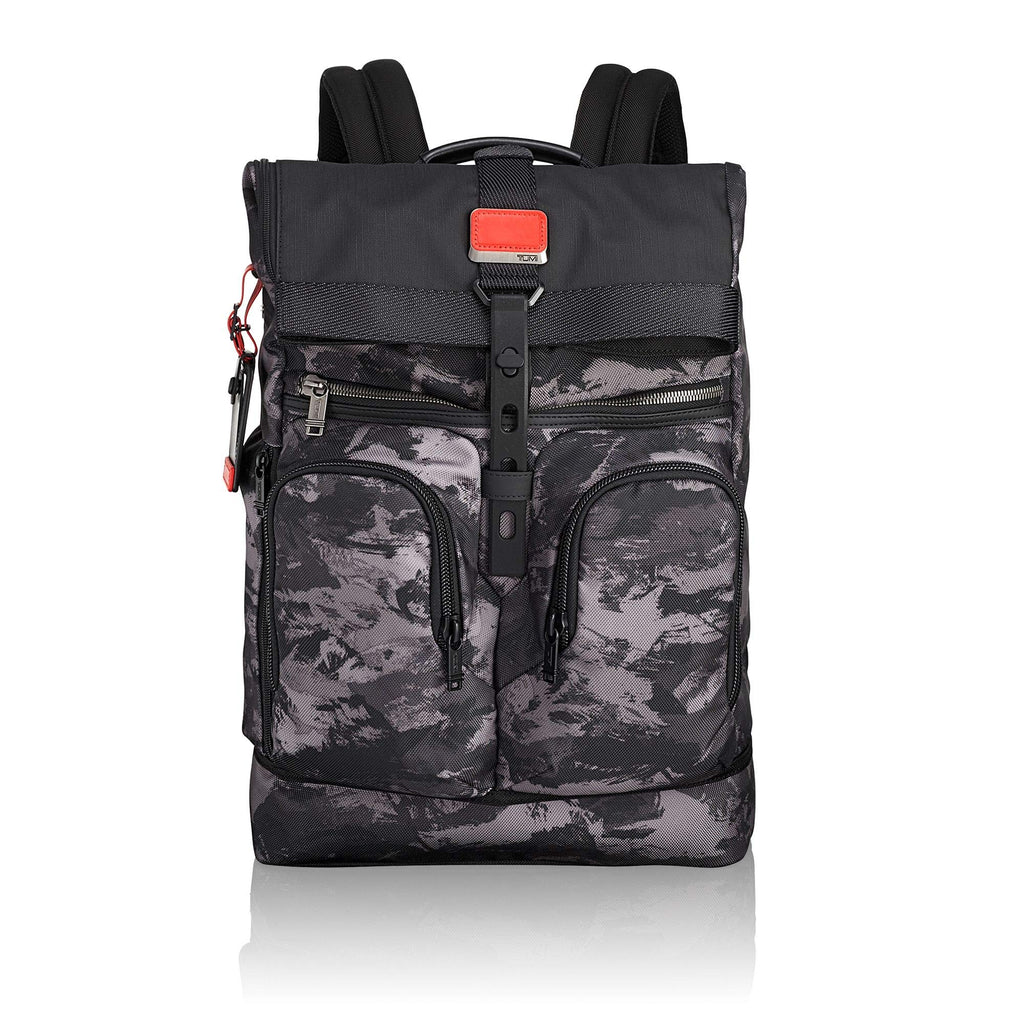 Tumi Men's Alpha Bravo London Roll Top Backpack, Charcoal Restoration, One Size - backpacks4less.com