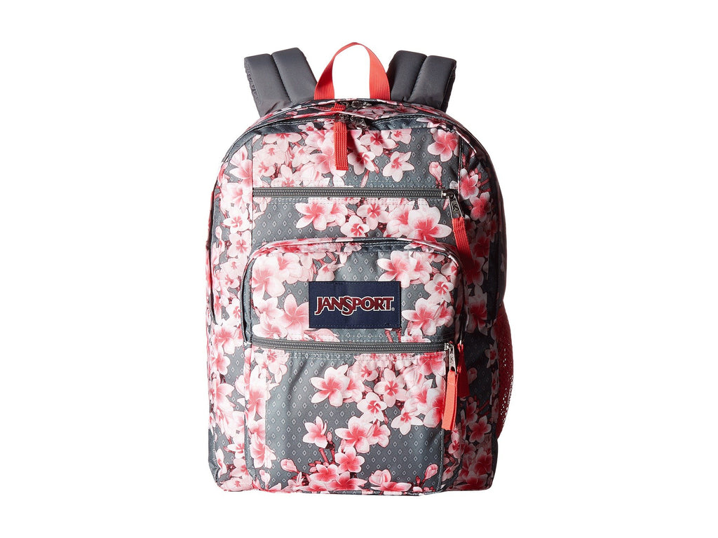 JanSport Unisex Big Student Diamond Plumeria Pink Backpack - backpacks4less.com