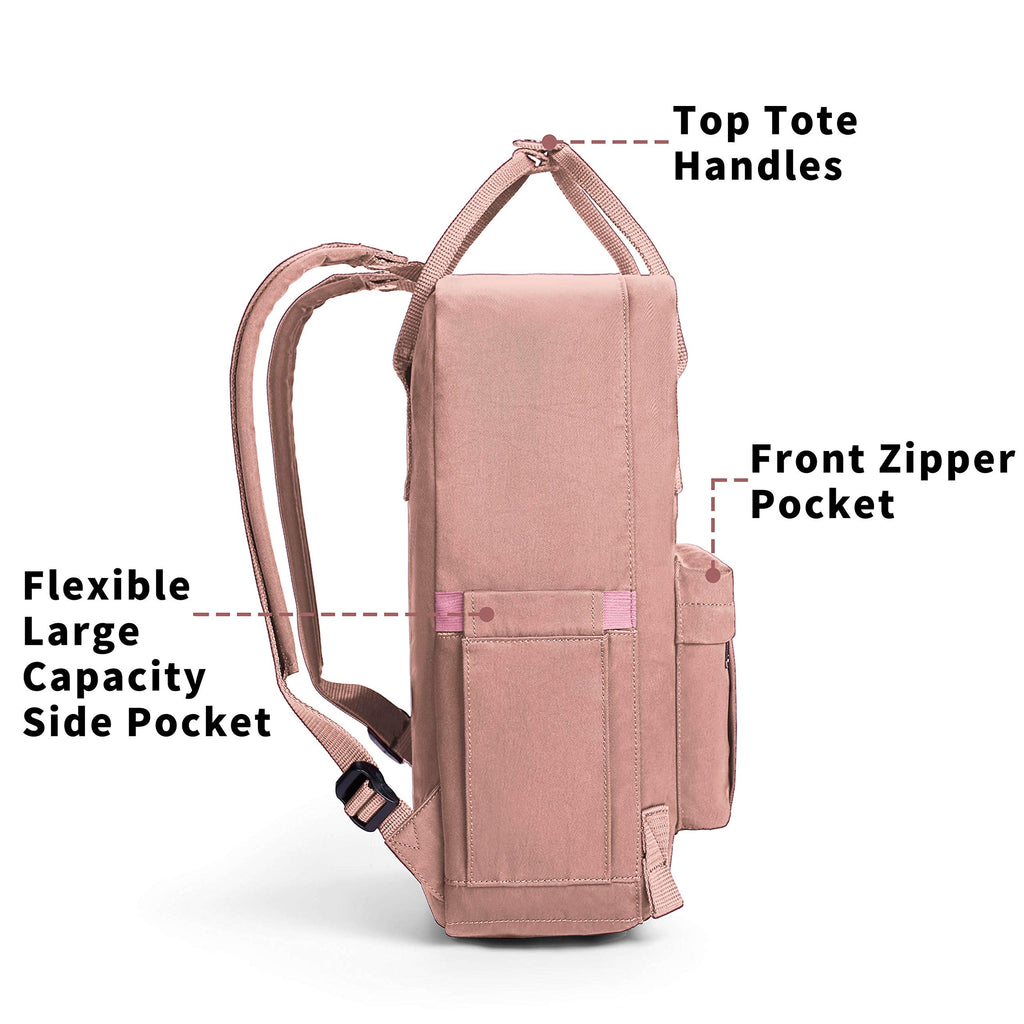 KALIDI Casual Backpack for Women,15 Inches Laptop Classic Backpack Camping Rucksack Travel Outdoor Daypack College School Bag (Pink) - backpacks4less.com