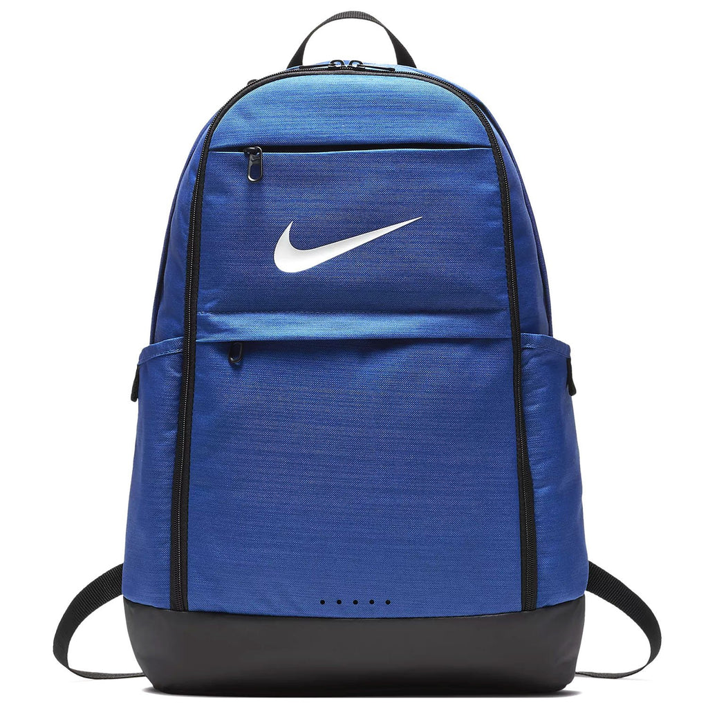 Nike Brasilia Training Backpack, Extra Large Backpack Built for Secure Storage with a Durable Design, Game Royal/Black/White - backpacks4less.com
