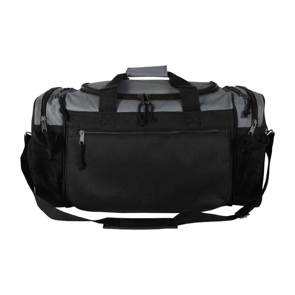 Dalix 20 Inch Sports Duffle Bag with Mesh and Valuables Pockets, Gray - backpacks4less.com
