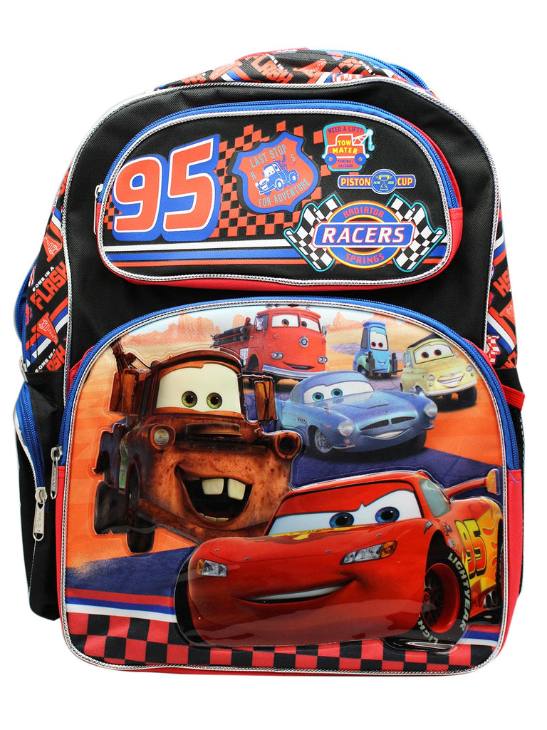 Disney Pixar 95 Cars 16 Inches Backpack - backpacks4less.com