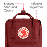 Fjallraven - Kanken Mini Classic Backpack for Everyday, Ox Red - backpacks4less.com
