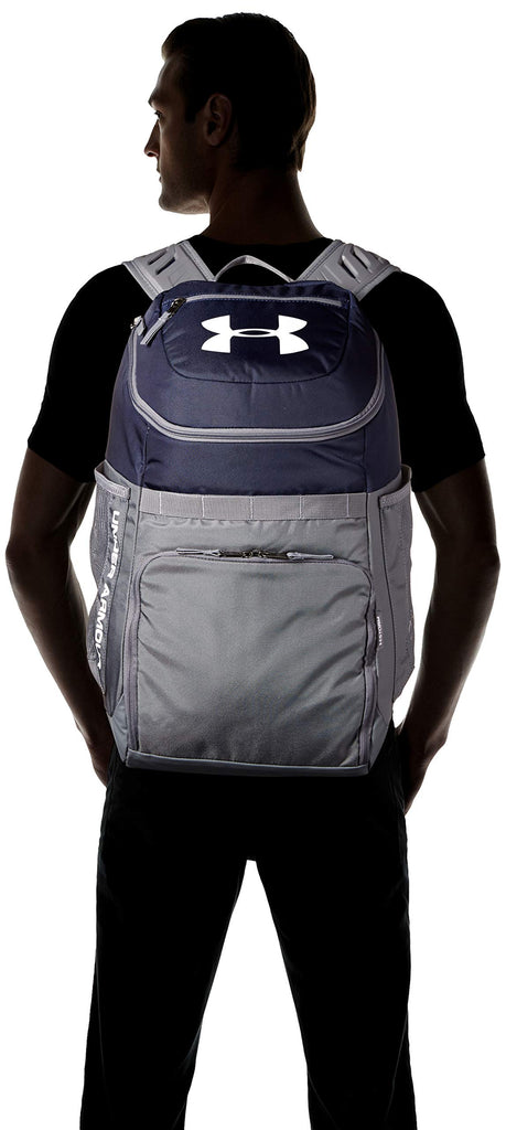 Under Armour Undeniable Backpack, Midnight Navy (410)/White, One Size Fits All - backpacks4less.com