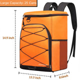 SEEHONOR Insulated Cooler Backpack Leakproof Soft Cooler Bag Lightweight Backpack Cooler for Lunch Picnic Fishing Hiking Camping Park Beach, 25 Cans - backpacks4less.com