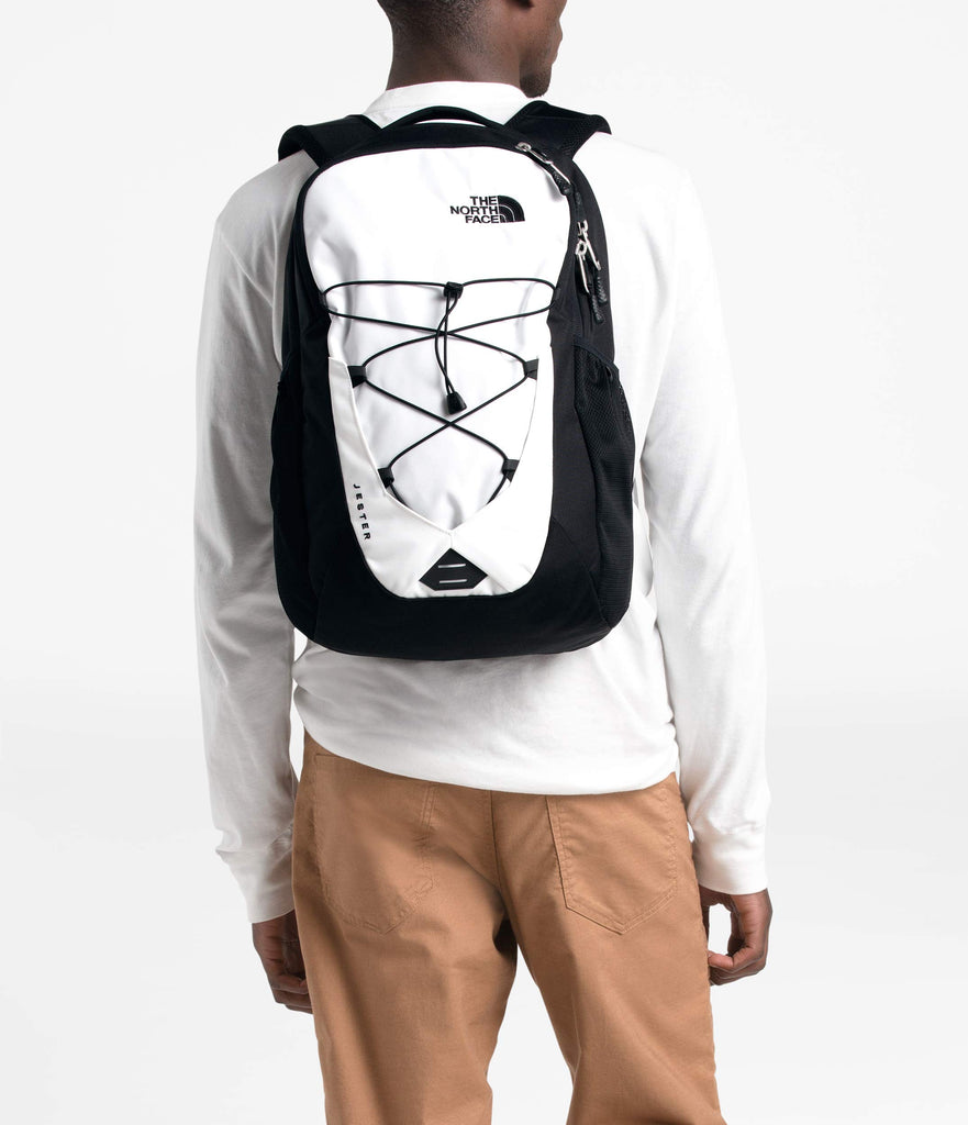 The North Face Jester Backpack, TNF White/TNF Black, One Size - backpacks4less.com
