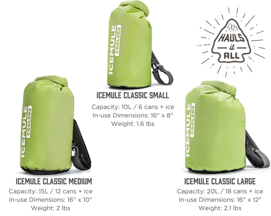 IceMule Classic Insulated Backpack Cooler Bag - Hands-Free, Collapsible, and Waterproof, This Portable Cooler is an Ideal Sling Backpack for Hiking, The Beach, Picnics and Camping-Small, Olive - backpacks4less.com
