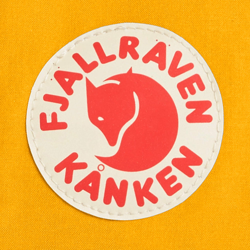 Fjallraven - Kanken Mini Classic Backpack for Everyday, Navy/Warm Yellow - backpacks4less.com