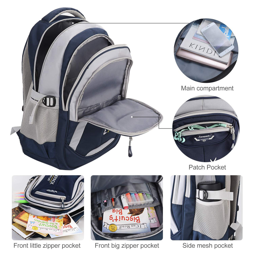 Rolling Backpack, Fanspack Rolling Backpack for Boys Roller Backpack Wheeled Backpack for Kids School Bags Primary School Backpack - backpacks4less.com