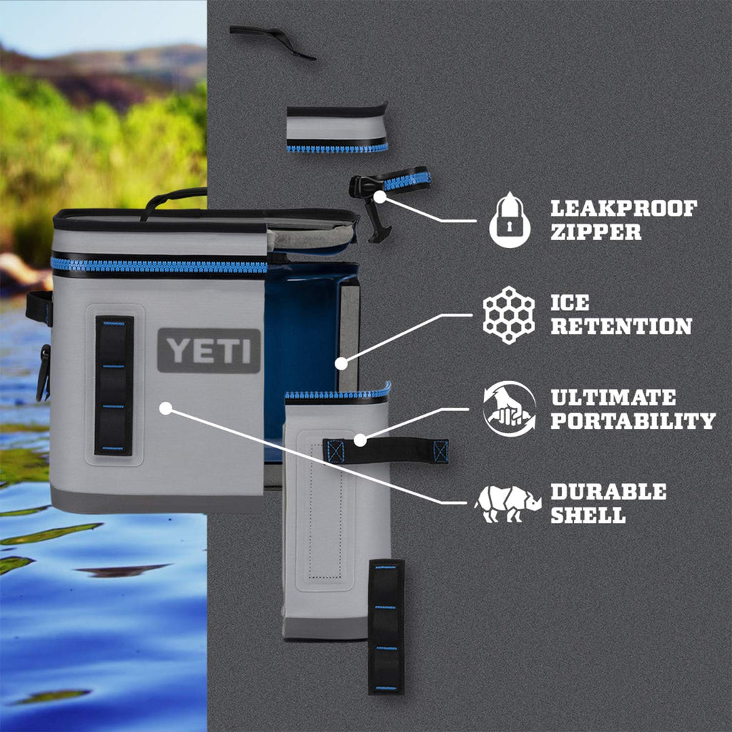 YETI Hopper Flip 12 Portable Cooler, Charcoal - backpacks4less.com