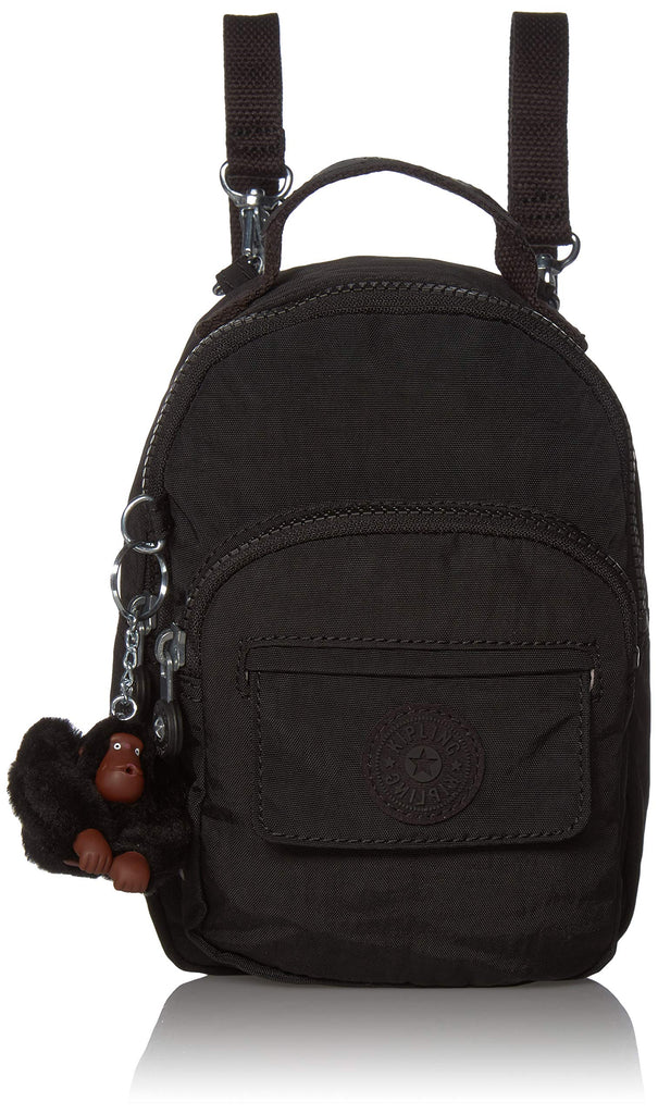 Kipling womens Alber 3-In-1 Convertible Mini Backpack, True Black, One Size - backpacks4less.com