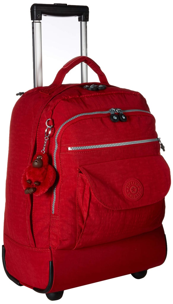 Kipling Sanaa Solid Rolling Backpack Backpack, cherry - backpacks4less.com