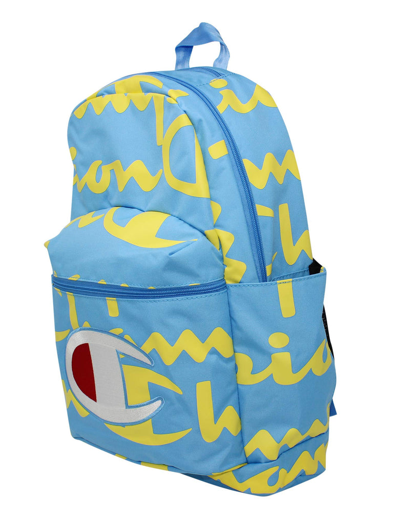 Champion Men's SuperCize Backpack, Blue/Yellow, OS - backpacks4less.com