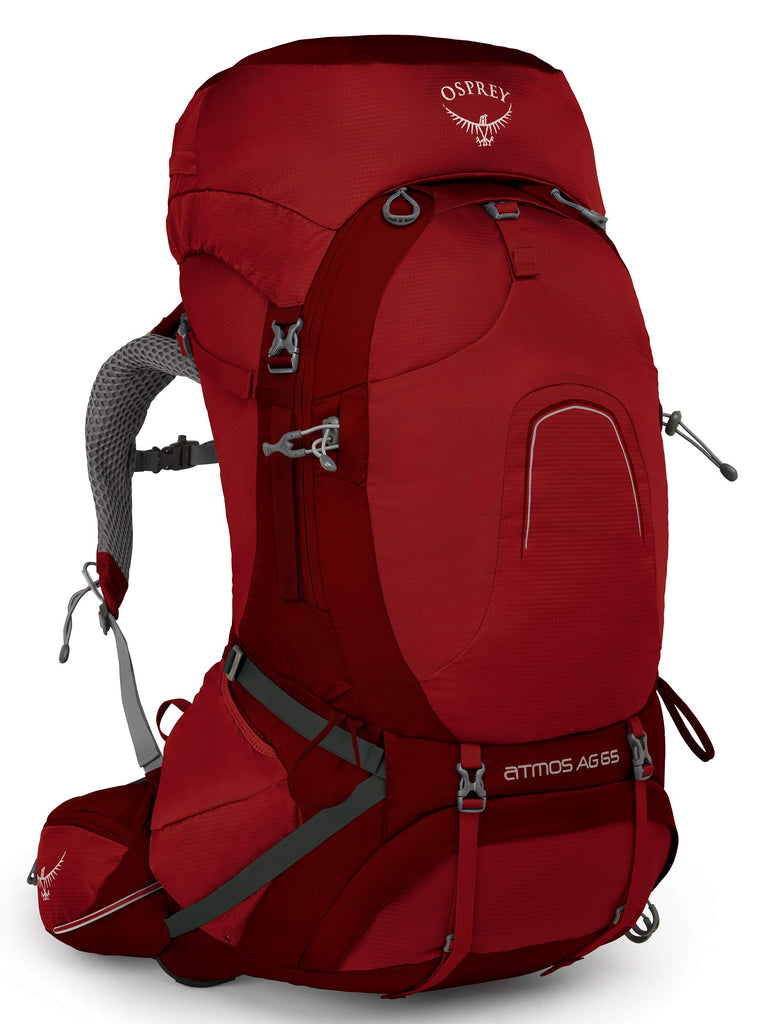 Osprey Packs Osprey Pack Atmos Ag 65 Backpack, Rigby Red, Small - backpacks4less.com