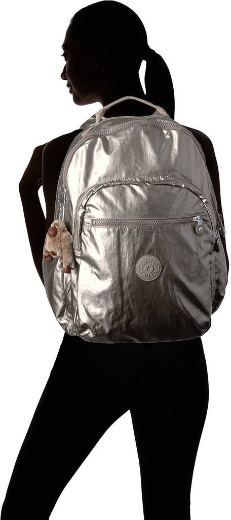 Seoul L Solid Laptop Backpack, Metallic Pewter - backpacks4less.com
