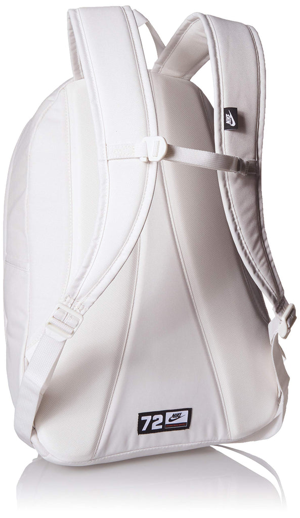 Nike Hayward 2.0 Backpack, Nike Backpack for Women and Men with Polyester Shell & Adjustable Straps, Phantom/Bright Crimson/Phantom - backpacks4less.com