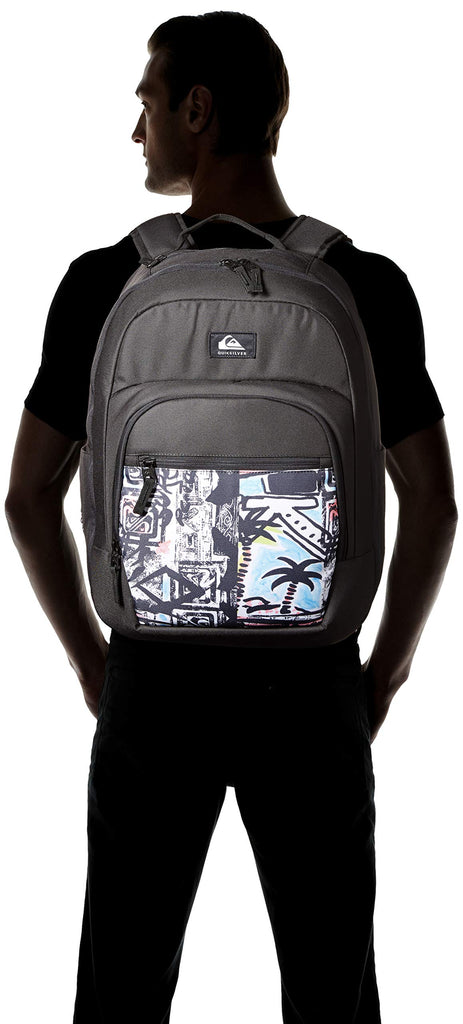 Quiksilver Men's SCHOOLIE Cooler II Backpack, Gulf Stream, 1SZ - backpacks4less.com