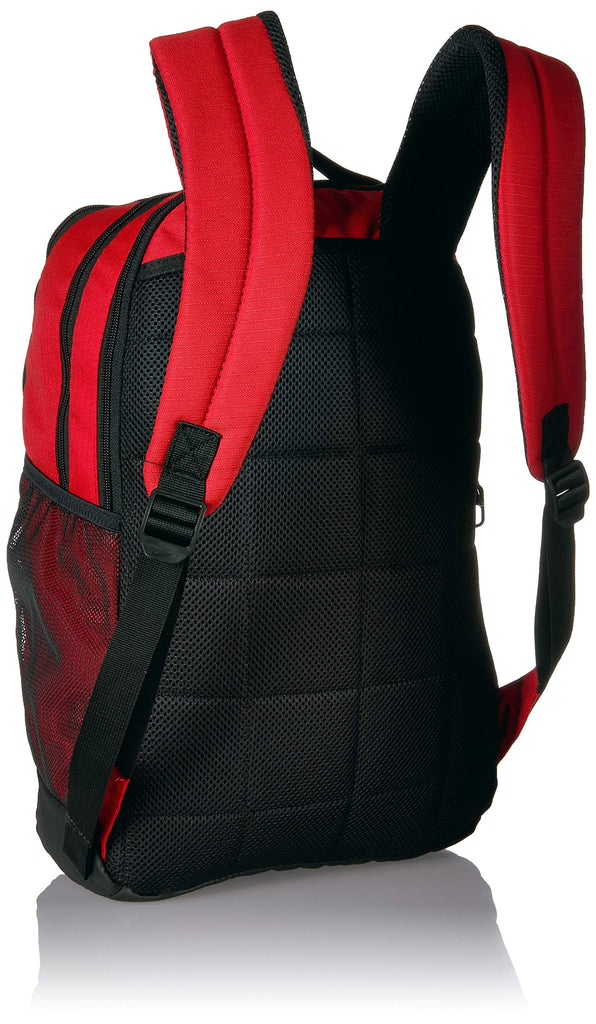 Nike Brasilia Medium Training Backpack, Nike Backpack for Women and Men with Secure Storage & Water Resistant Coating, University Red/Black/White - backpacks4less.com