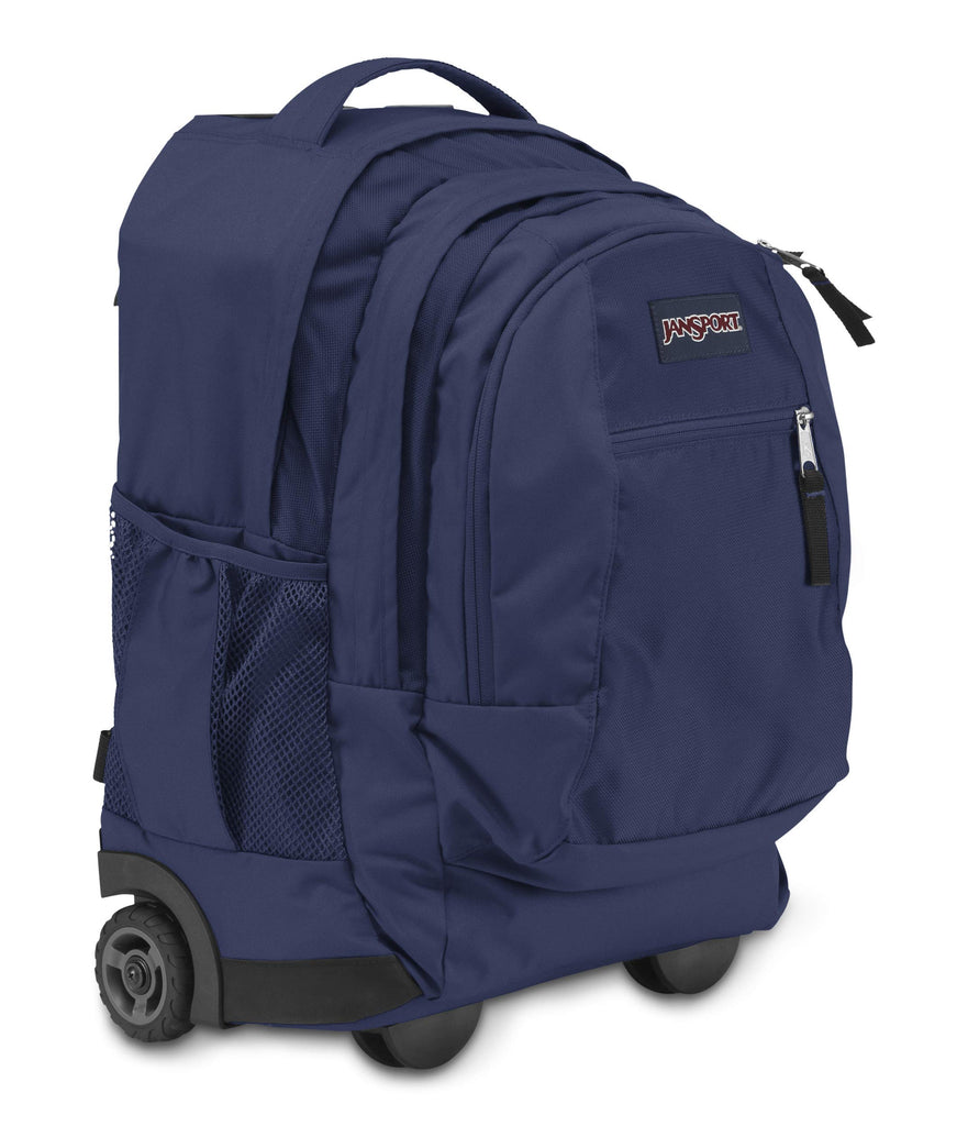 Jansport Driver 8 Core Series Wheeled Backpack, Navy - backpacks4less.com