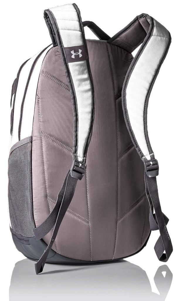 Under Armour Unisex Team Hustle 3.0 Backpack, White (100)/Gray, One Size Fits All - backpacks4less.com