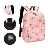 Teens Backpack Set Girls School Bags Kids Laptop Bookbags (Pink-T02) - backpacks4less.com