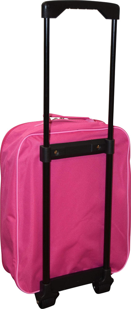 "Junior Minnie Mouse 15"" Collapsible Wheeled Pilot Case - Rolling Luggage - backpacks4less.com"