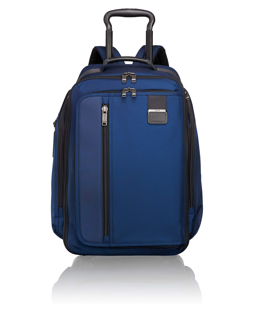 TUMI - Merge Wheeled Backpack - 15 Inch Laptop Carry-On Rolling Bag for Men and Women - Deep Blue - backpacks4less.com