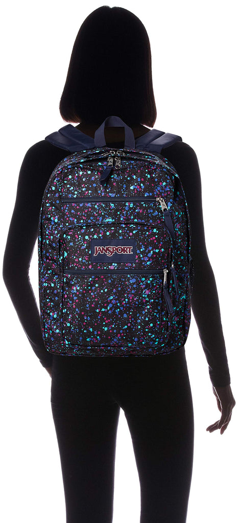 JanSport Unisex Big Student Splatter Dot Navy One Size - backpacks4less.com