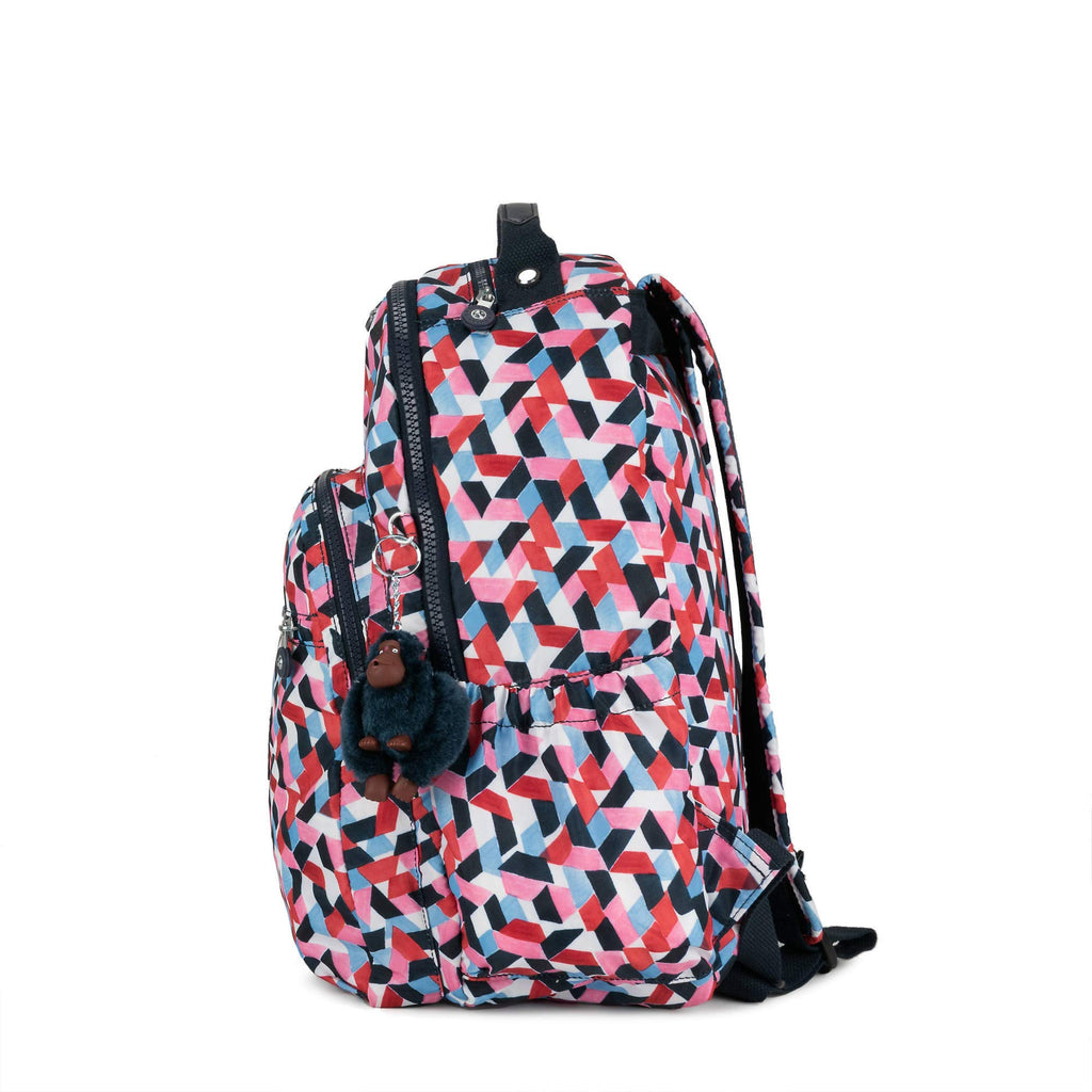 "Kipling Seoul Go Large Printed Laptop 15"" Backpack Forever Tiles 1 - backpacks4less.com"