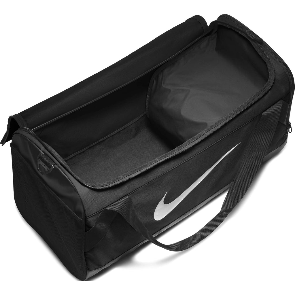 NIKE Brasilia Training Duffel Bag, Black/Black/White, Large - backpacks4less.com