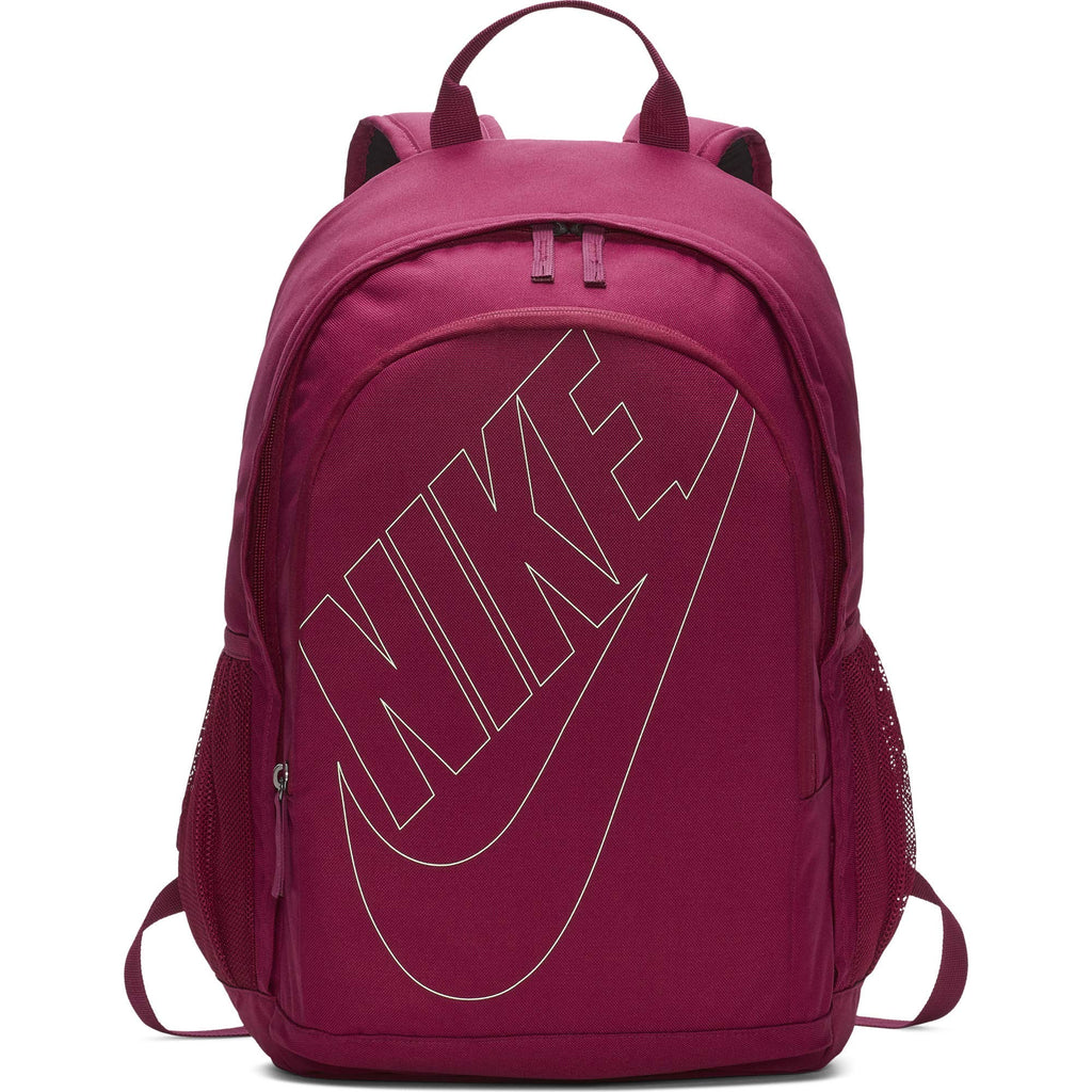 Nike Sportswear Hayward Futura Backpack for Men, Large Backpack with Durable Polyester Shell and Padded Shoulder Straps, True Berry/True Berry/Frosted - backpacks4less.com