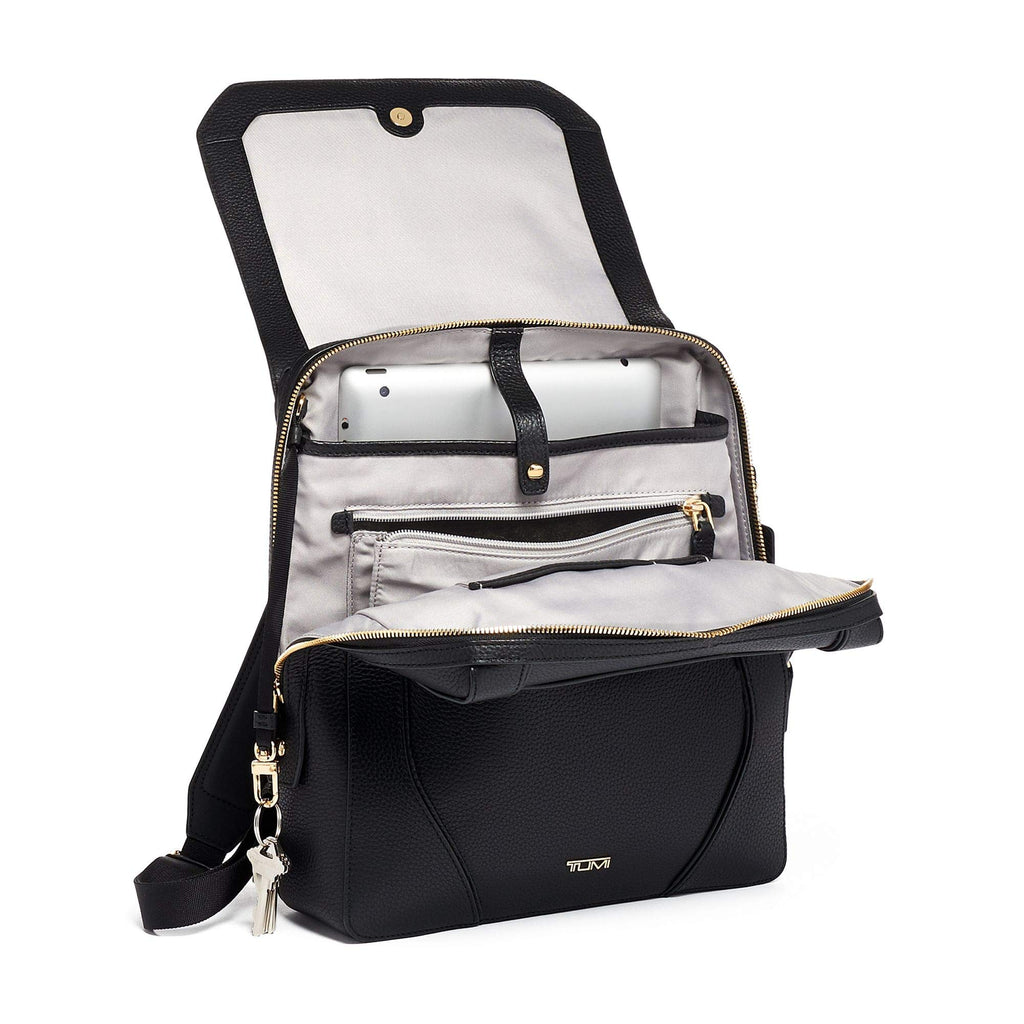 TUMI - Stanton Tori Flap Backpack - Black/Gold - backpacks4less.com