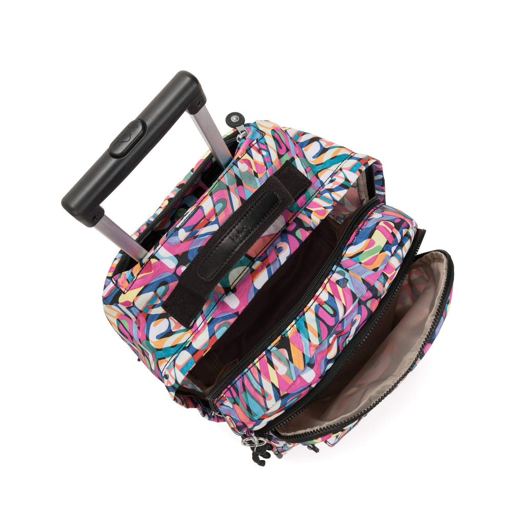 Kipling Sanaa Large Rolling Backpack Wild Melody - backpacks4less.com