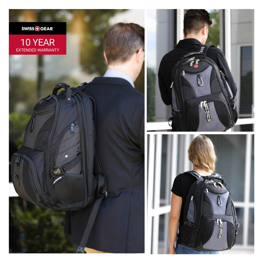 SwissGear Travel Gear 1900 Scansmart TSA Laptop Backpack - Gray - backpacks4less.com
