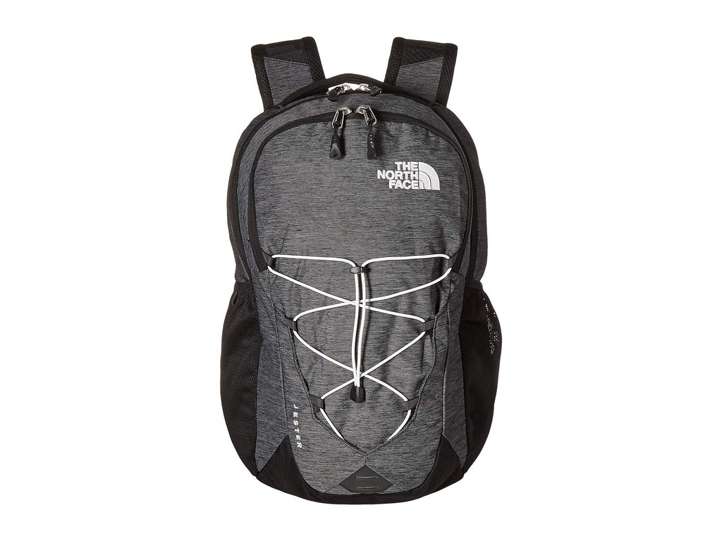 The North Face Jester Backpack, TNF Black Heather/TNF White, One Size - backpacks4less.com