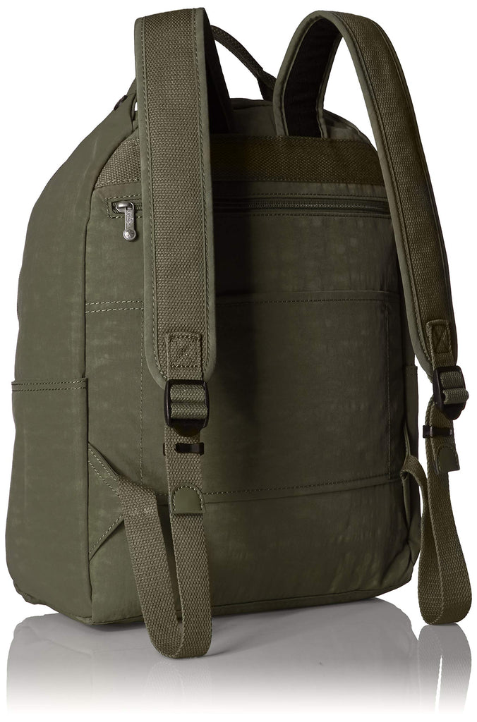 Kipling womens Micah Medium Laptop Backpack, Padded, Adjustable Backpack Straps, jaded green, One Size - backpacks4less.com