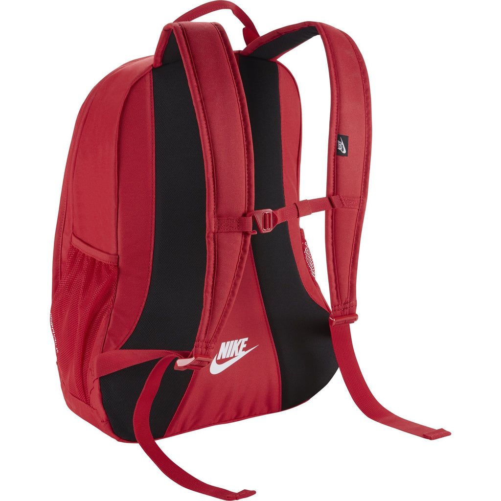 Nike Sportswear Hayward Futura Backpack for Men, Large Backpack with Durable Polyester Shell and Padded Shoulder Straps, University Red/University Red - backpacks4less.com