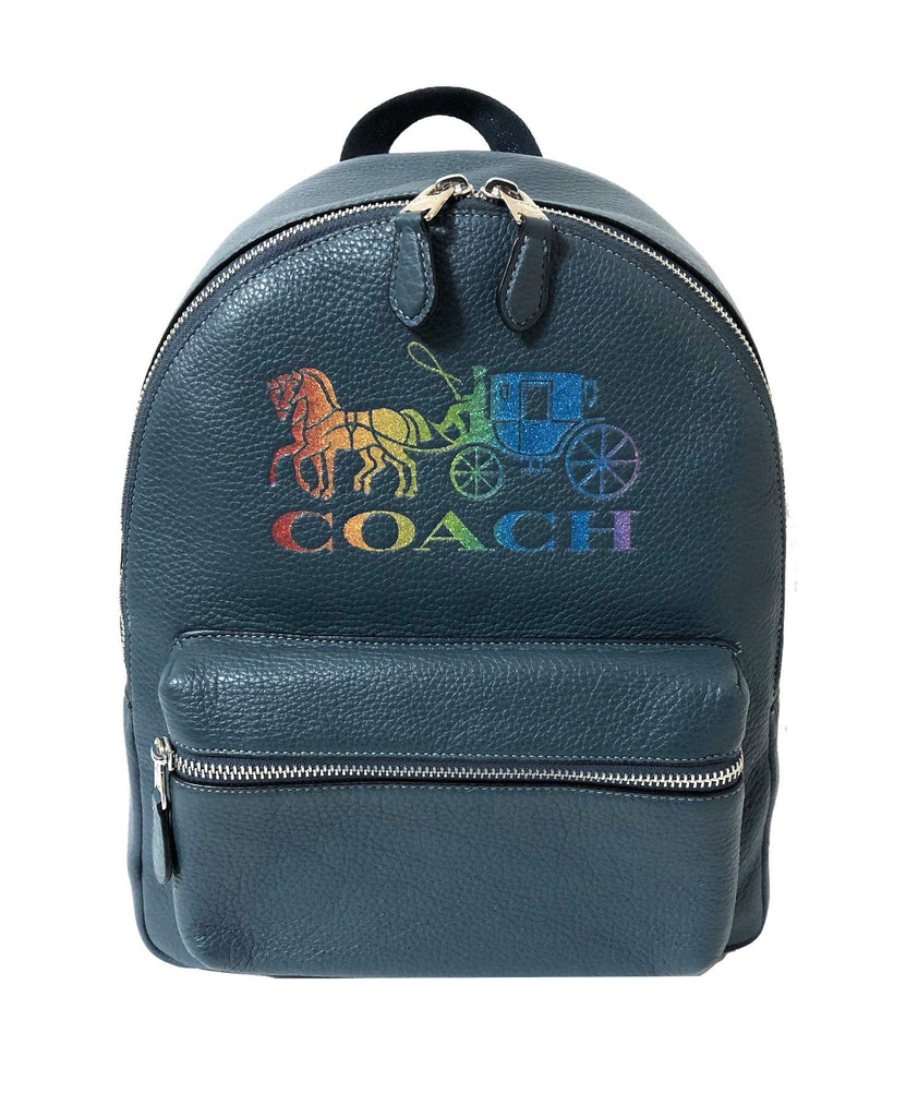 Coach F30550 Medium Charlie Backpack (SV/Denim Multi) - backpacks4less.com