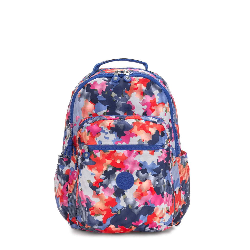 "Kipling Seoul Large 15"" Laptop Backpack Misty Moonlight - backpacks4less.com"